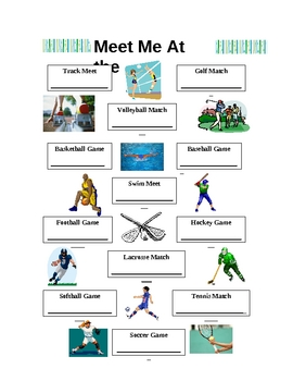 Meet Me At The Sports Event- Partner Pairings