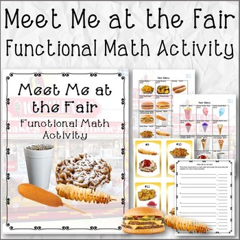 #SPEDCHRISTMAS1 Meet Me at the Fair Functional Math Activity