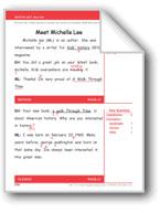 Meet Michelle Lee (Gr. 2/Week 27)