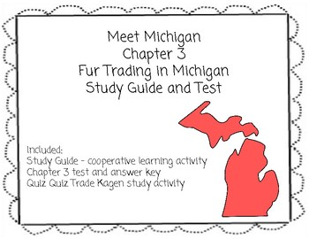 Meet Michigan Chapter 3 Cooperative Learning Activities and Chapter Test