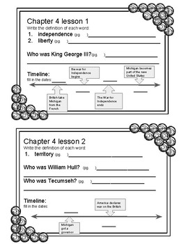 Meet Michigan Chapter 4 Cooperative Learning Activities and Chapter Test