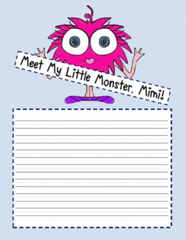 Meet Mo Monster - A Freebie Writing Template