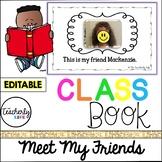 Meet My Friends -- Class Book *EDITABLE*