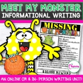 Meet My Lil' Monster: Informational Writing Unit for Halloween