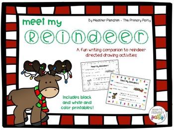 Meet My Reindeer Writing