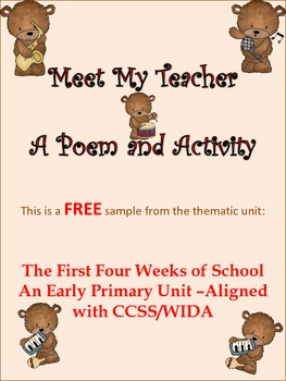ESL Resource and Activity for Early Primary and ESL/ELL Newcomers Too!