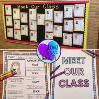Meet Our Class Bulletin Board or Class Book