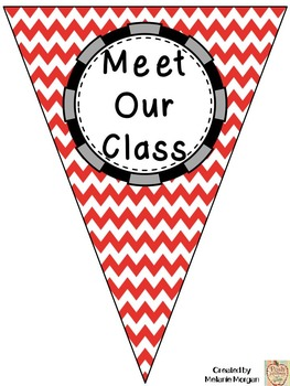 Meet Our Class All About Me Pennant Bunting