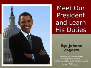 Meet Our President and Learn His Duties