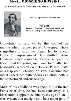 Meet ROSSINI - Romantic Music Composer