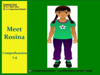 Meet Rosina Comprehension SMART notebook Grade 2 Unit 1 Week 4 Treasures