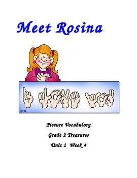 Meet Rosina Vocabulary Posters