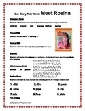 Meet Rosina - Weekly Skill Sheet - 2nd Grade Treasures