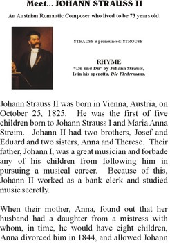 Meet STRAUSS - Romantic Music Composer