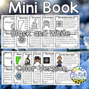 Meet Snowflake Bentley Mini Book and More for 2nd Graders