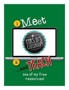 Meet & Teach Mrs D's Classroom {freebie}