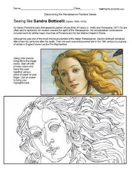 Meet The Master's Series-Botticelli
