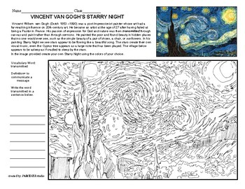 Meet The Master's Series-Vincent Van Gogh (Starry Night)