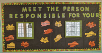Meet The Person Responsible Bulletin Board leaves
