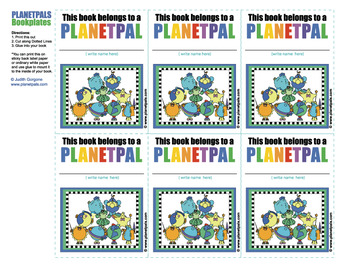 Meet The Planetpals BOOKPLATES