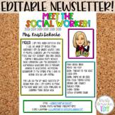 Meet The Social Worker Newsletter Template Editable