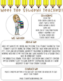 Meet The Student Teacher Letter - Pencil Me In