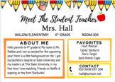 Meet The Student Teacher Template Open House Night Distance Learning