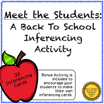Back to School Inferencing Activity