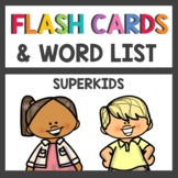 Kindergarten Superkids Decodable Flash Cards