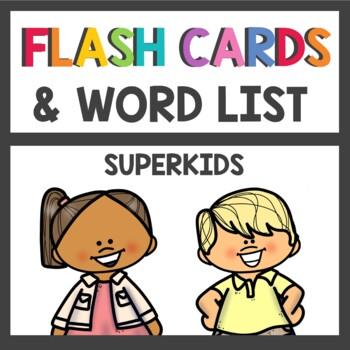 Kindergarten Superkids Decodable Flash Cards