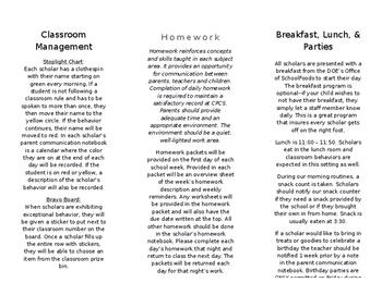 Meet The Teacher Brochure