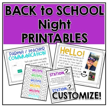 Meet The Teacher  {Printables for your Back to School Night}