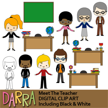 meet the teacher clip art by darrakadisha teachers pay teachers