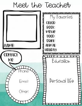 Meet The Teacher - EDITABLE TEMPLATE
