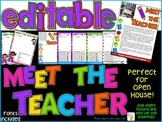 EDITABLE Meet The Teacher