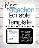 Meet The Teacher Editable - Rustic, shiplap