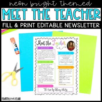 Meet The Teacher {Editable Welcome Letter}
