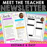 Meet The Teacher Newsletter - Neon Brights