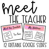 Meet The Teacher Editable Slides
