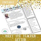 Meet The Teacher Letter Template-Editable