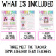 Meet The Teacher Editable Template and Contact Cards / Magnets Bundle