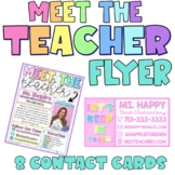 Meet The Teacher Editable Template and Contact Cards / Mag