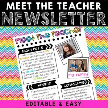 Meet The Teacher {Editable Welcome Letter} Neon Dots