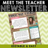 Meet The Teacher Newsletter - Succulent Farmhouse