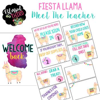 Meet The Teacher Fiesta Llama Theme