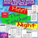Meet The Teacher Night EDITABLE (4) + No Prep Forms! Activ