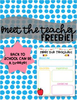 Meet The Teacher Freebie!