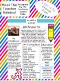 Meet The Teacher Handout *Open House*