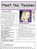 Meet The Teacher Information Sheet