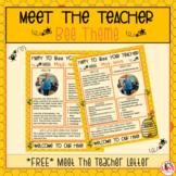 Meet The Teacher Letter- Bee Theme
